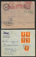 NETHERLANDS 1940-50's COLL OF 7 AIR MAIL COVERS ALL TO US WITH VARIOUS FRANKINGS