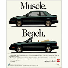 1992 Dodge Shadow: Muscle Beach Vintage Print Ad