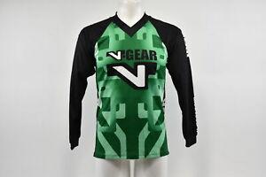 Verge V-Gear Kids Medium Youth BMX Long Sleeve Cycling Jersey V Neck Green/White