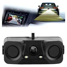 3 in 1 CCD Car Rear View Camera + Reverse Backup Parking Sensor+Beeper Universal