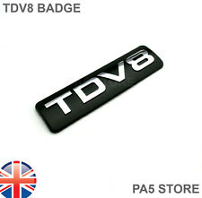 TDV8 Badge - Black & Chrome - LAND RANGE ROVER SPORT VOGUE DISCOVERY FREELANDER
