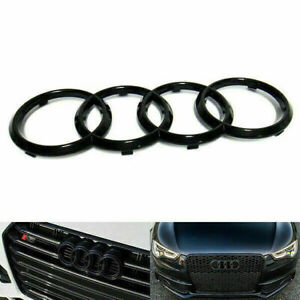 Black Front Grille Ring Logo Badge Emblem For Audi A1 A3 A4 A5 A6 273x94mm