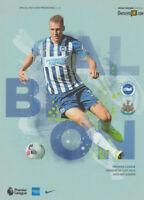Brighton v Newcastle United Premier League Programme 2020