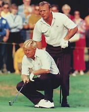 ARNOLD PALMER & JACK NICKLAUS 8X10 PHOTO GOLF PICTURE PGA MASTERS US OPEN