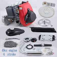 4-Stroke 49cc Gas Pull Start Petrol Engine Motor Kit for Motorized Bicycle Bike
