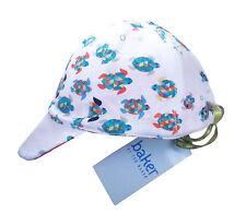 Ted Baker Baby Boy Cap Sun Hat Turtle White Designer 0-6 Months