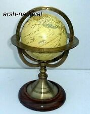 Brass Armillary with Globe Vintage Engraved Globe Christmas