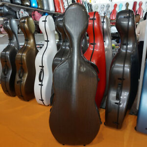 Liyin Cello Case 4/4 Cello Case Carbon fiber Cello Hard Case-Gray#001