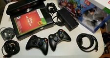 Microsoft Xbox 360 S  Console Model 1439  Bundle Controller Cables Games WoW!!!