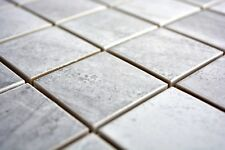 Mosaïque carreau céramique travertin gris mat cuisine bain 16-0211_b | 1 plaque
