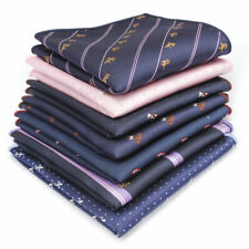 Lot 7 Packs Men's Handkerchief Pocket Square Dog Printing Suit Hankies For Party