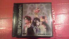 Final Fantasy VIII PlayStation PS1 All 4 Discs BLACK LABELTested w/Case