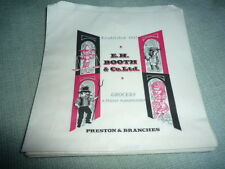 VINTAGE   PAPER BAGS   EH BOOTH GROCERS AND ITALIAN WAREHOUSEMEN STAGE PROP