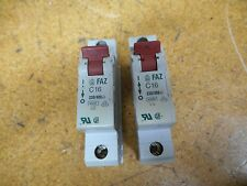 Moeller FAZ-C16 Circuit Breakers 16A 220/380VAC 1 Pole Used (Lot of 2)