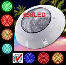 NEW POWERFULL 558 LED SWIMMING POOL STRONG LIGHT RGB 7 COLOUR - REMOTE CONTROL