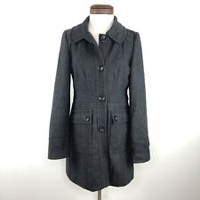 Anthropologie Tulle Charcoal Grey Wool Coat  |  Womens M