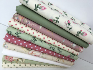 Jelly Rolls Fat Quarters 4, 5, 10 inch Patchwork Squares 100% Cotton Fabric JR10