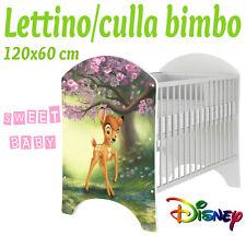 LETTINO CULLA BIMBO 120X60 CM!COLLEZIONE DISNEY2016 BAMBI