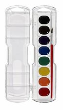 Prang Washable Watercolor Set, 8 Classic Colors with Brush, Assorted Colors