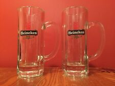Two (2) HEINEKEN Beer Glass Steins  Nice!