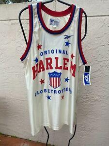 NWT 1996 REEBOK ORIGINAL HARLEM GLOBETROTTERS #27 MENS BASKETBALL JERSEY SZ XL