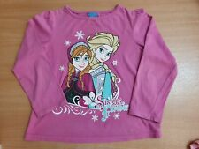 Girls Frozen Long Sleeve Top 7-8 Years Pink Elsa And Anna 'Sisters Forever'