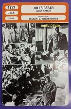 US MGM Movie Julius Caesar Marlon Brando James Mason French Film Trade Card