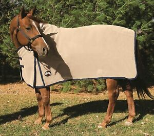Weaver HORSE UV PROTECT Mosquito Bug Fly Sheet Cool Mesh 68 to 84 :Tan w/Navy