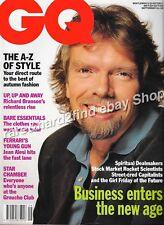 Vintage GQ Magazine British Edition RICHARD BRANSON Cover Sept 1991