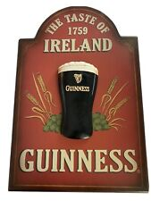 Guinness Beer Wood Wall Sign