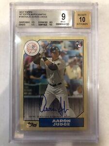 2017 Topps Aaron Judge Auto Autograph BGS 9 10 Yankees