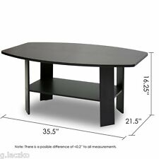 Table Coffee Furniture Modern Living Room Round Wood Simple Espresso Cheap New