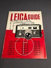 Vintage Leica Guide Camera Manual Book 1946