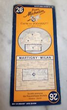 Card michelin No.26  Martigny-Milan 1950's collector BIBENDUM vintage