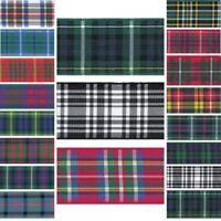 Berisfords Scottish Woven Tartan Ribbon 7mm, 10mm, 16mm