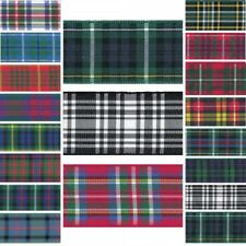 Berisfords Ribbon Scottish Woven Tartan 7mm, 10mm, 16mm Scottish Names