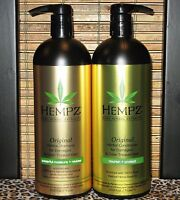 Hempz Original Shampoo & Conditioner Damaged Hair 33.8 oz Liter Set Duo Pack