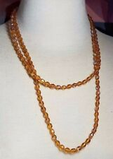 Vintage Glass Faceted Bead Vintage Long Necklace