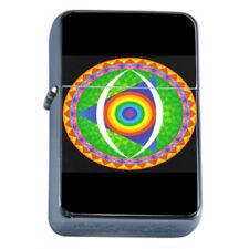 Rainbow Triangle Symbol Em1 Flip Top Oil Lighter Wind Resistant With Case