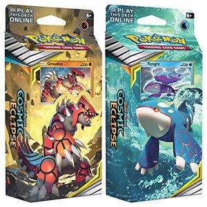 Pokémon 81596 Cosmic Eclipse-Theme Decks-Set of 2 Groudon & Kyogre
