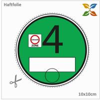 Trägerfolie / Haftfolie für Vignette Feinstaubplakette Umweltplakette / statisch