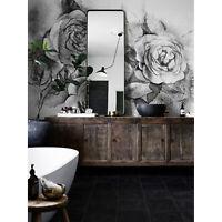Selbstklebend Tapete Schwarze und weiße Rosen Blumenstrauß Ablösbar Fototapete
