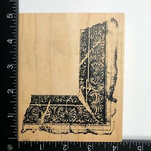 Stampers Anonymous Decorative Frame Corner Wood Mounted Rubber Stamp V1-543