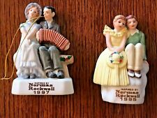 2 Norman Rockwell Dave Grossman Figurines Couples 1995/1997