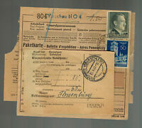1943 Germany Auschwitz Parcel Cover Forwarded to Flossenburg Concentration Camp
