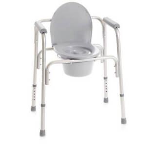 Sedia Comoda Wc Multifunzione 4 In 1 per anziani e disabili Rialzo Water Moretti