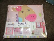 Summer Infant Pretty Pals 4 Piece Nursery Crib Bedding Set Giraffe Monkey Safari