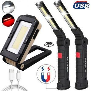COB LED Arbeitsleuchte Akku KFZ Werkstattlampe Taschenlampe Handlampe mit Magnet