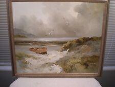 KARL NEUMANN Impressionist Seascape German 24 X 20 Original O/C