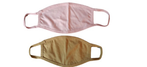 Pack of 2 Face Masks cotton double-layer washable reusable Protective Breathable